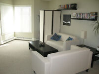 Open Plan Top Flr 1BR incl. heated parking, storage, gym + more