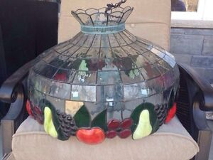 Beautiful fruit stained glass hanging lamp