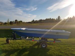 15 fiberglass boat for TRADE or sale