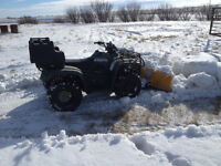 Reasonably Priced Utility ATV with snow blade