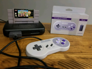Super nes console and mario kart