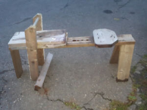 Hand made woodworker's bench