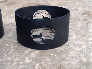 Plasma cut,custom designed metal fire rings,fire pits & inserts