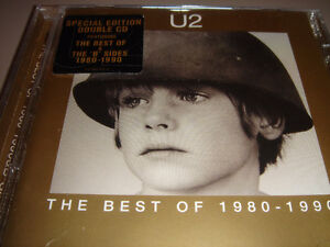 U2  CD The Best of 1980-1990 Special Ltd Ed. with B's UNOPENED
