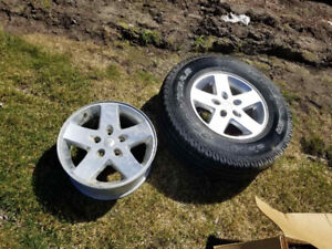 """17"""" Jeep Rims & full size spare"""