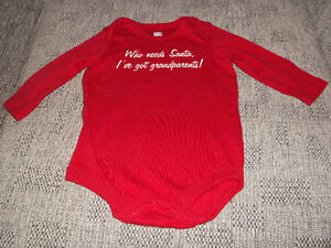 """Christmas Gift????? """"Faded Glory"""" 100% Cotton Onesie"""