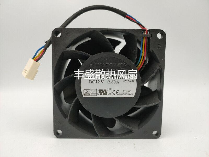 FOXCONN PIA080K12R 12V 2.8A 33W 8CM 4-pin PWM Ball Bearing Server Cooling Fan