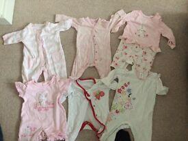 Girls baby grows 0-4