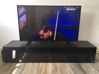 Brand new Tv stand with black gloss opening front