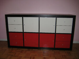Ikea Expedit, set up as a chest of drawers / dresser. Like new.