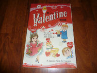 "OLDER NEVER USED  LARGE BOOK OF ""CUT-OUT"" VALENTINES"