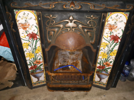 Victorian Style Cast Fireplace with Gas Burner Whitstable