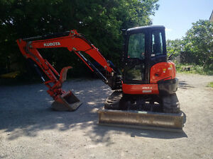 2015 Kubota U55 Loaded cab/heat/air/thumb - ORO-MEDONTE $69,995