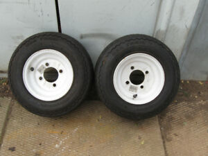 2 CARLISLE 4 BOLT  16.5x 6.5-8 TRAILER TIRES NEW