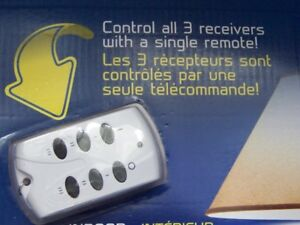 1 Outdoor 2 Indoor Wireless Remote Outlets (NEW)