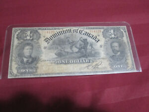 1898 Dominion Of Canada One Dollar Banknote