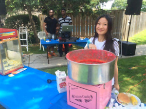 COTTON CANDY AND POPCORN MACHINE RENTALS ONLY $40