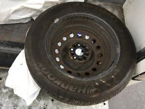 4 pneus Hankook Optimo H426 4 saisons avec jantes 195/65R15