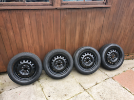 165 60 14 Tyres on steel wheels fit Aygo C1 and 107 4x100