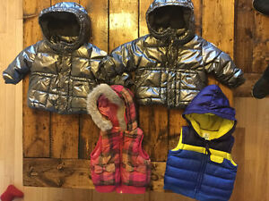 Twin Baby Gap winter coats & fall vests