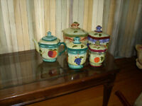 teapot and canister set