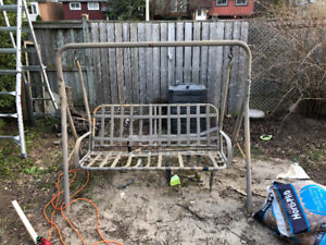 Metal 3 Seater Outdoor Swing Chair Frame