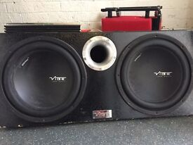Vibe twin 12inch sub amp & 6x9 package.