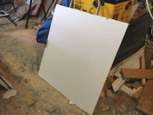 Drywall 1/2 inch several different sizes.  FREE