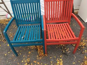 R/B Patio chairs ..assorted outdoor furniture