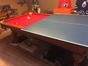 MAN CAVE - Pool Table + Ping-Pong  Table top and accessories