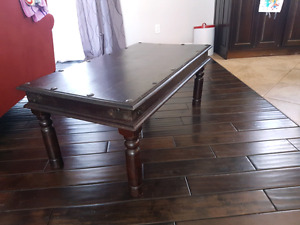 Dark brown rustic Wood table