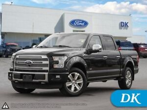 2015 Ford F-150 Platinum Crew FX4 w/Leather, Nav, Max Tow, Tech
