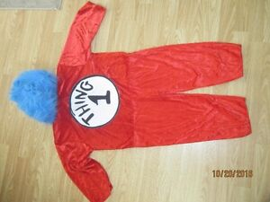 Dr. Seus Thing 1 Costume, comes with Wig and costume, Size Kids