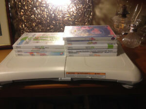 8 Nintendo Wii games and Wii Fit Balance Board