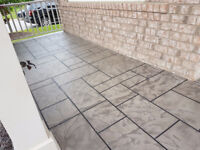 Resurface Concrete Areas with Jewel Stone 'Faux finishing'
