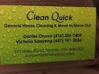 DEEP CLEAN, REGULAR CLEANING AND MOVE IN/OUT CLEANING