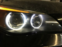 "DEL /LED CREE 10W pour BMW avec ""ANGEL EYES HALO"" −60$"