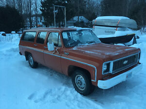 74 chev suburban all original