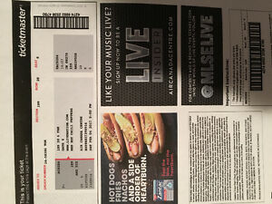 Two Tickets for Red Hot Chilli Peppers-February 4th Toronto