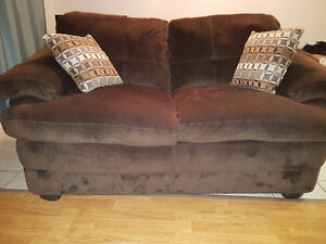 micro suede sofa and love seat