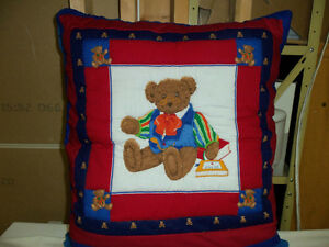 Teddy Bear Quillow (Quilt + Pillow)