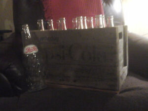 Wooden Pepsi Case with bottles