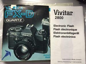 Appareil photo YASHICA  ave flash VIVITAR 2800
