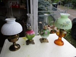 ESTATE PARLOR LAMPS FROM MID 1800S
