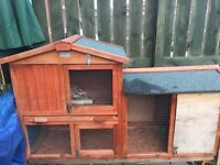 Large 2 Storey/Level Guinea Pig /Rabbit Hutch Excellent condition plus accessories bedding