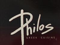 Philos Restsurant Now hiring, hostess / bartender