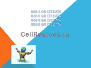 Unlimited CANADA TELUS KOODO Plans 6GB/8GB LTE $49/$56 per mo