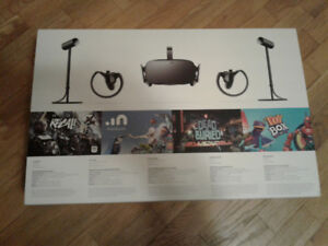 Oculus Rift Virtual Reality VR headset, controllers and sensors