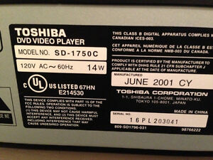 Toshiba DVD Player Stereo Tv Movie Play Rental Travel Cottage Oakville / Halton Region Toronto (GTA) image 2