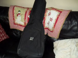 Profile Acoustic Guitar Gig Bag Stand and Tuner